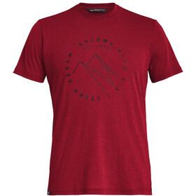 SALEWA Alta Via Dri-Release Lyhythihainen T-paita Miehet, velvet red melange